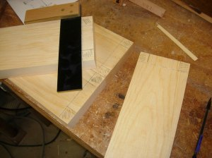 Marking out the tenons