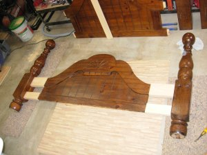 Dry-fit of footboard