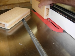 Cutting the dados on the table saw