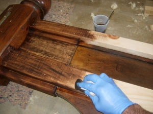 Staining the back to test color