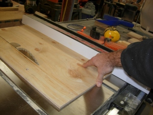 Cutting the inserts for the headboard