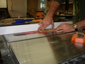 Cutting the dado in the sides