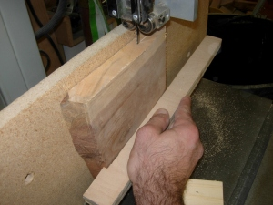 Resawing a piece for the tray bottom