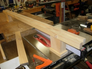 Dry fit of the center beam
