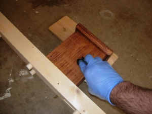 Staining the feet