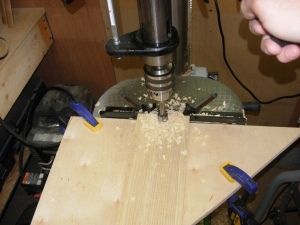 Drilling the slat ends