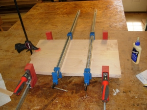 All clamped and drying