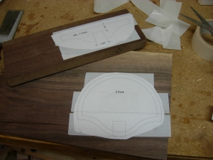 Attaching pattern with double-sided tape