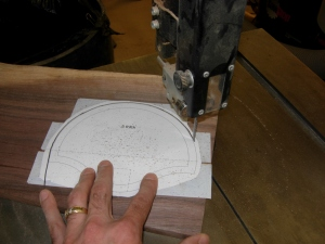Cutting out the front piece