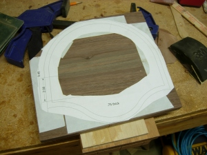 Attaching the back plate pattern