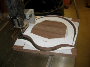 Back plate cut out