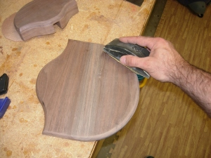 Finish sanding both pieces