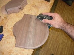 Finish sanding both pieces
