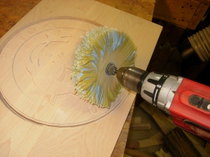 Buff sanding the fuzzies