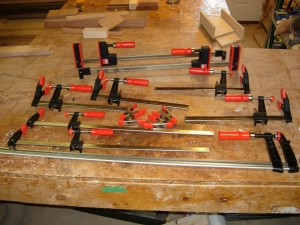 My new pile of clamps