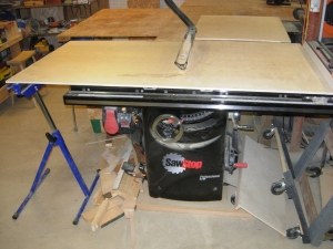 Cross-cutting with the table saw
