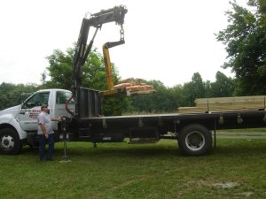 My wood being delivered