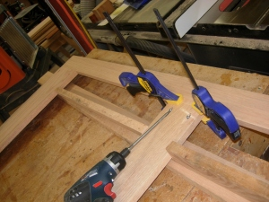 Assembling the upper cabinet frame