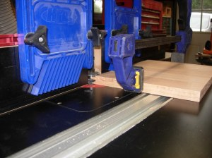 Clamping up multiple boards for end cuts