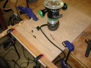 Building a quick drill press table
