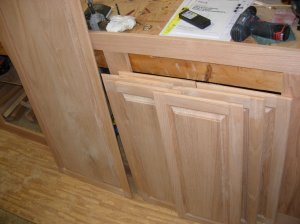 Door edges finished and ready for hinges