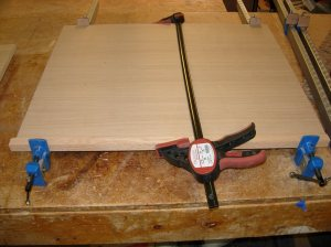 Clamping the edge-banding on