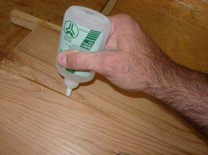 Filling a few cracks with CA glue