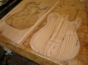 Cut out and lightly sanded