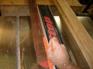 Ripping the mahogany