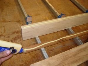 Applying water proof wood glue