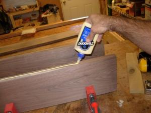 Cut, planed, & applying the glue