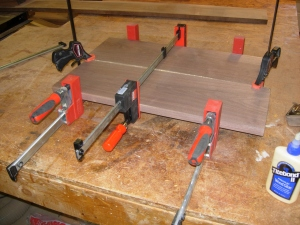 Clamped and drying