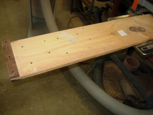My adjustable planing sled