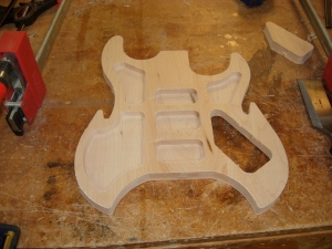 Tabs cut, carve of lower half complete