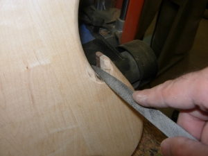 Filing the tight spots by hand