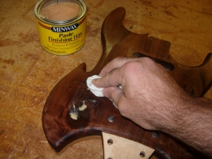 Applying paste wax