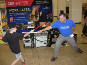 Fencing lessons form Tom Iovino