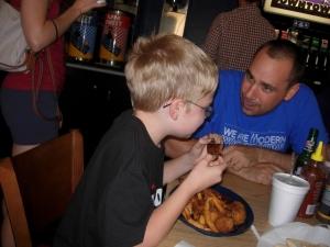 Eating Ribs at Bib's