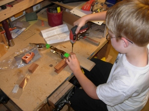 Clamping and drilling the body