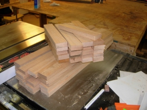 Rail and stile blanks for ten doors