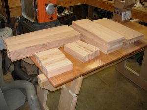 Blanks milled and cut