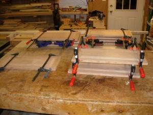 Panels all glued up