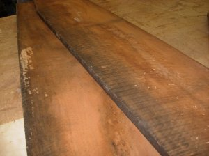 Rough-sawn air dried cherry