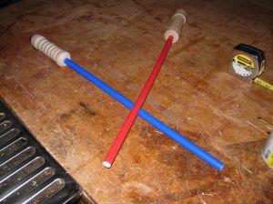 Mine and Adam's sabers