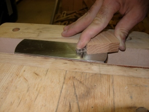Flattening with a block plane