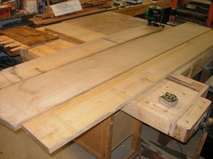 Air-dried quarter-sawn white oak