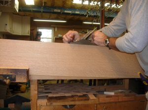 Final jointing by hand