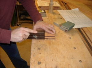Cleaning up the tenons with a bull nose plane