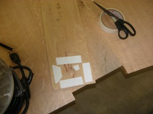 Attaching double-sided tape