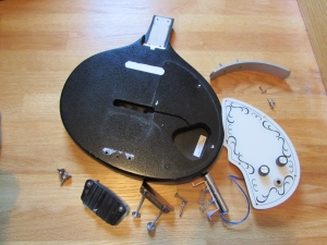 Sitar disassembled